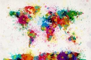 planisphère multicolore